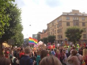 Åbos Pride- parad startade från Konstmuseet i centrum.